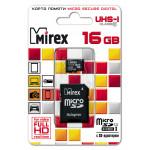 Mirex MicroSDHC 16Gb Class10 UHS-I + adp карта памяти