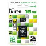 Mirex MicroSDHC 16Gb Class10 + adp карта памяти