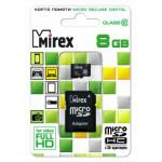 Mirex MicroSDHC 8Gb Class10 + adp карта памяти