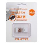 Qumo USB2.0 16GB Nano White флешка