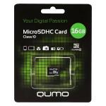Qumo microSDHC 16Gb Class 10 карта памяти
