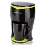 кофеварка Polaris PCM 0109 цвет черный/салатовый
