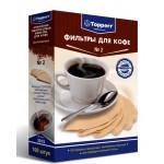 Topper 3015 фильтр для кофеварок №2 (100штук) н/о