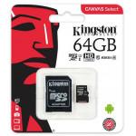 Kingstone microSDXC 64Gb Canvas Select C10 UHS-I +adp
