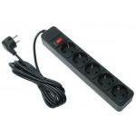 5bites SP5B-130 5S сетевой фильтр 3м, черный