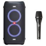 JBL PartyBox 100 + AKG P3S портативная акустика + микрофон