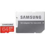 Samsung EVO Plus MicroSDXC 64Gb C10 UHS-I + adp карта памяти