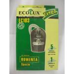 Ecolux EC 103 пылесборники (5 штук+1 микрофильтр) Rowenta
